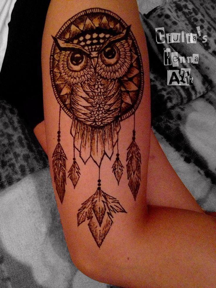 New henna tattoo by me !!! #owl #dreamcather #henna #tattoo #hennatattoo #ciuliahennaart #work #art #design #proud #girl #beauty #fashion #mehndi