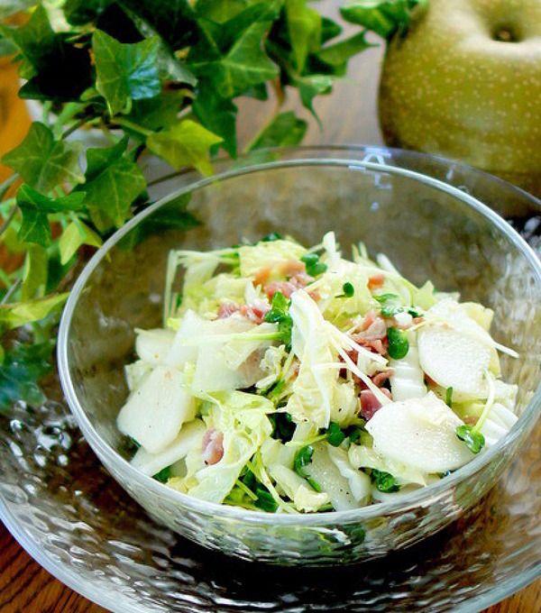 梨と白菜の簡単シャキシャキサラダ