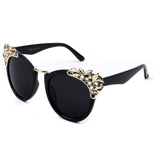f54d0c9ce03d Crystal Jewel Cat eye shades glasses Women luxury sunglasses female sexy  unique eyeglasses Rhinestone sun glasses Who like it   Visit our store