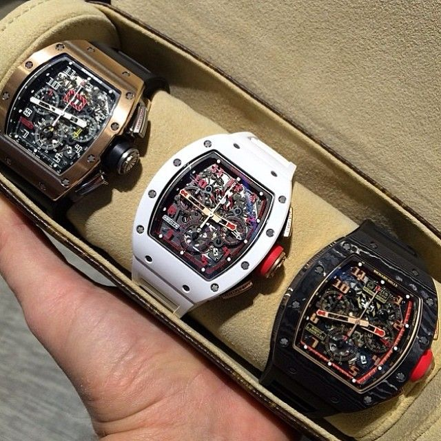 thewatchspotter:  A game ending trifecta courtesy of @appanerairm  Can anyone name all three #RichardMille ⌚️❓⌚️❓⌚️❓