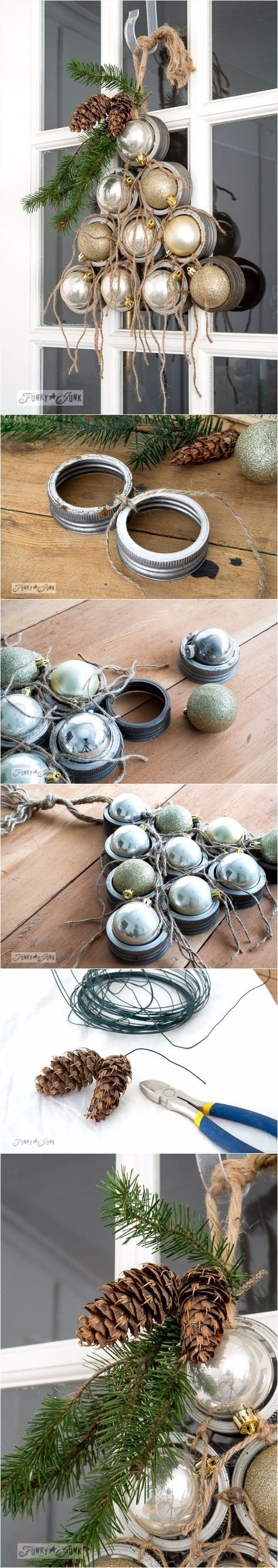 What you'll need: Mason jar canning lids Twine Ornaments Garnish of choice (I used evergreen and pinecones) Hot glue More info and instructions about this great tutorial you can find in the source url - above the photo. diycraftsclub.com is a collection of the best and most creative do it yourself projects, tips and tutorials. […]