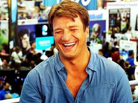 Here's a random picture of Nathan Fillion laughing to brighten your thursday