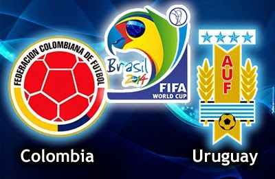 TaruhanLR - Perkiraan Skor Pertandingan 19-06-2014 Fase 16 Besar World Cup 2014 : Kolombia Vs Uruguay