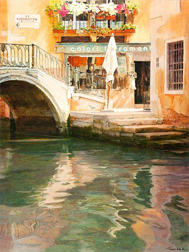 """""""Mooring, Ponte del Megio, Santa Croce, Venice"""" by Trevor Heath"""