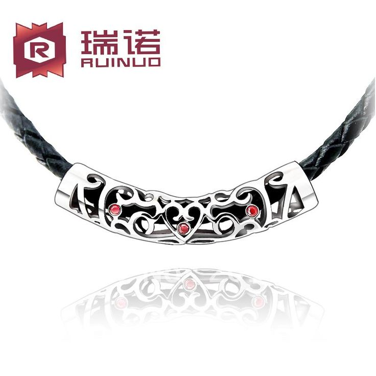 Free shipping Genuine leather necklace male ancient carved chain cutout rope  male necklace