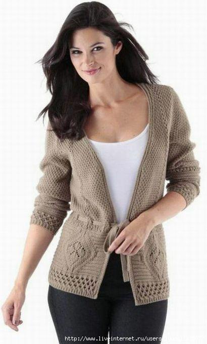 Кардиганы, пуловеры, кофты, свитера (спицы)   Записи в рубрике Кардиганы…