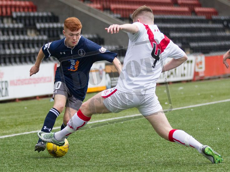 Queen's Park's Liam Brown in action during the Ladbrokes League One game between Airdrieonians and Queen's Park.