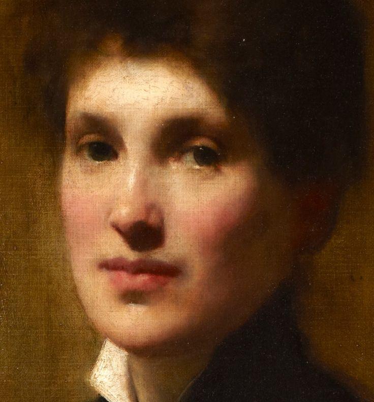 'Portrait of Henrietta Lowy Solomon (the Artist's Sister)' by Solomon J. Solomon.