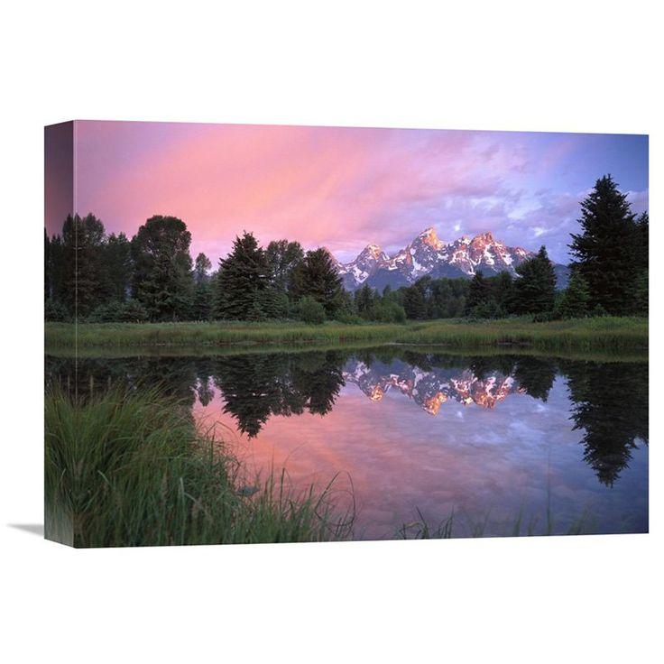 Global Gallery Grand Teton Range at Schwabacher Landing Grand Teton Np Wyoming Wall Art - GCS-451996-2432-142