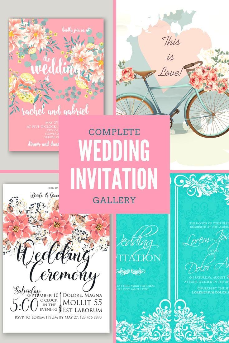 Beautifully Designed Wedding Invitation Cards Template