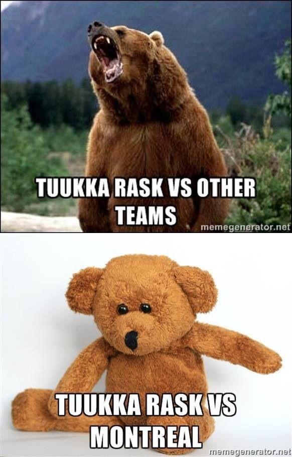 Tuukka Rask vs the Habs #Bruins #Habs #humor