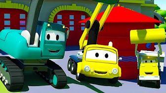 Troy o Trem e o Carro de Corrida Vermelho na Cidade do Carro | desenhos animados - YouTube