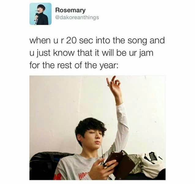 """"""" Quando ascolti i primi 20 secondi della canzone e sai già che sarà la tua """"marmellata"""" per il resto dell'anno """""""