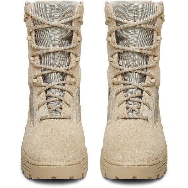 Yeezy Season 4 Mens Combat Boot ($560) ❤ liked on Polyvore featuring men's fashion, men's shoes, men's boots, mens army boots, mens military boots, mens combat boots, mens shoes and mens boots