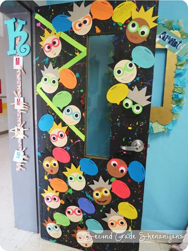 Neat door decoration. Mad Scientists or Mathematicians, whatever fits your needs best!