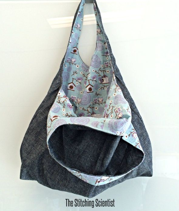 Reversible Hobo Tote with Free Pattern