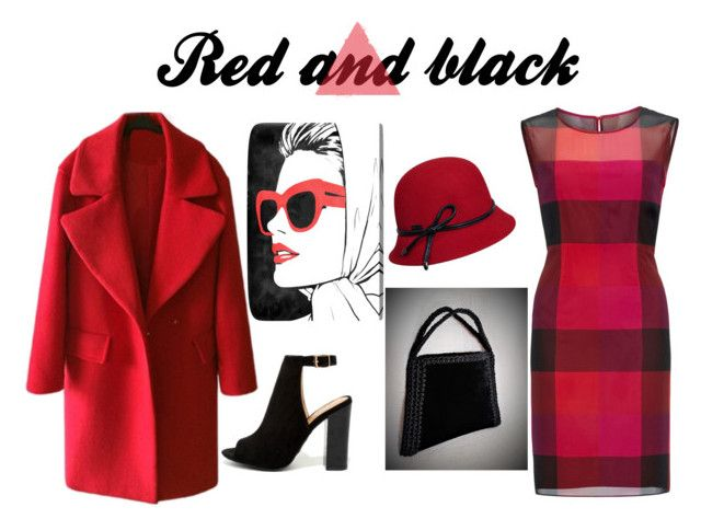 Red and Black by mariliart on Polyvore featuring Gina Bacconi, Bamboo, Betmar and Oliver Gal Artist Co and @MariliartbyM