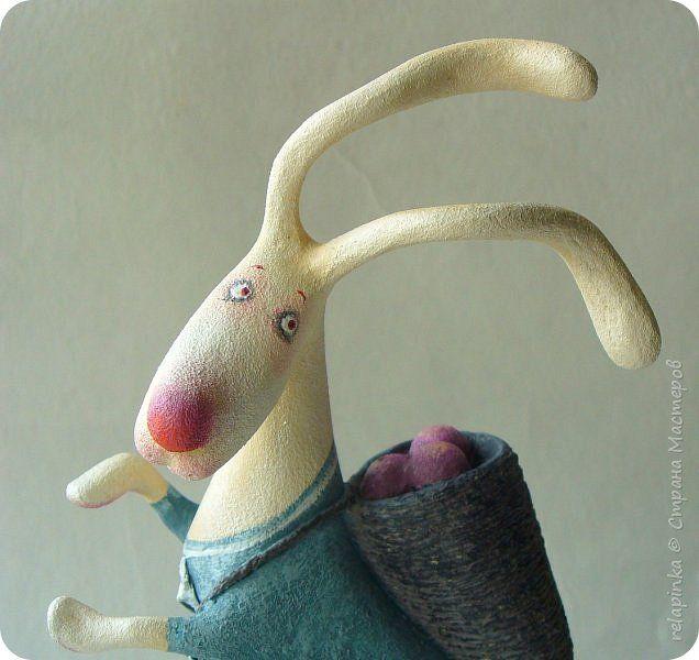 Куклы Пасха Папье-маше Пасхальный кролик Бумага фото 1
