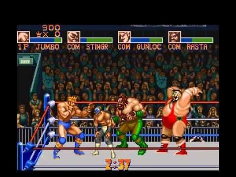 Jogo clássico de luta livre para o Super Nintendo. - YouTube