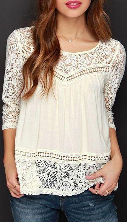 lace & chiffon blouse ❤︎