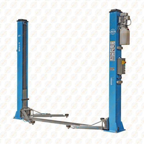 Kétoszlopos elektro-hidraulikus csápos emelő, 4t, 220V, elektromos zárkioldású