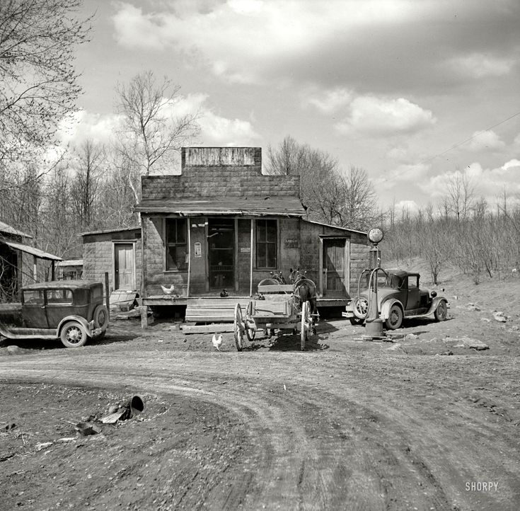 """Thankful someone took the time to photograph this type of beauty - April 1937. """"Buttermilk Junction, Martin County, Indiana."""""""