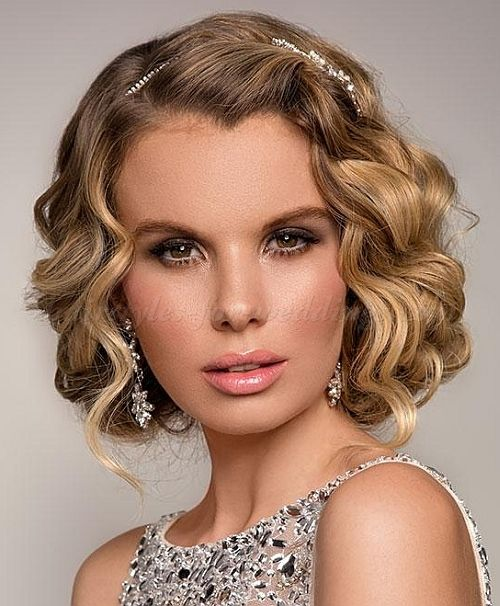 Wedding Hairstyles For Short Bobs: Curly Wedding Updos, Curly Wedding Hairstyles, Wavy