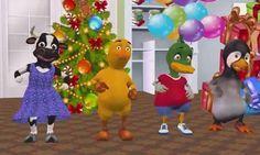 Estos animales virtuales han organizado una fiesta de cumpleaños para esta navidad, una de las felicitaciones más divertidas. Genial para todos.