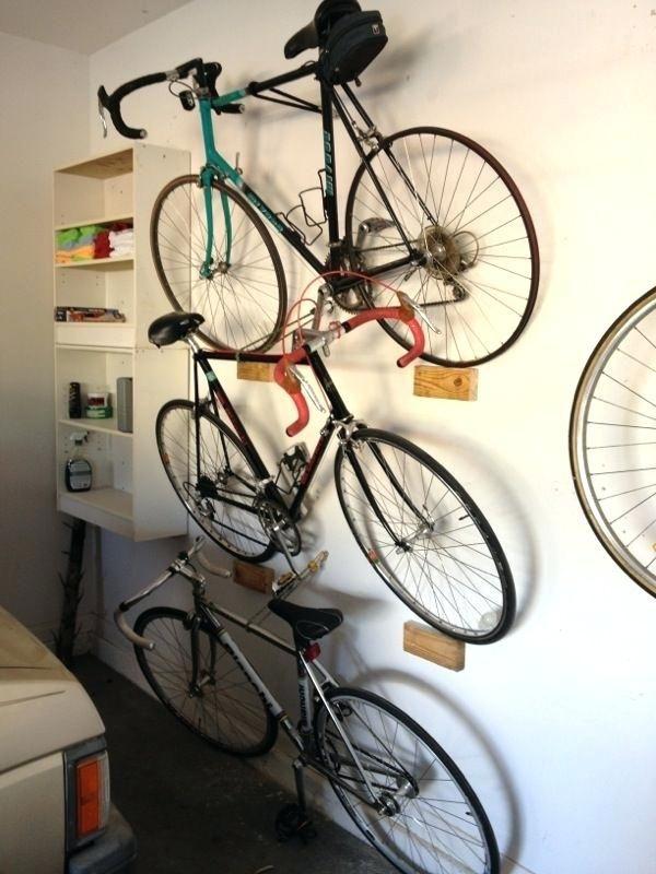 Diy Wall Mount Bike Rack Stacking Leaning Garage Bike Rack Great