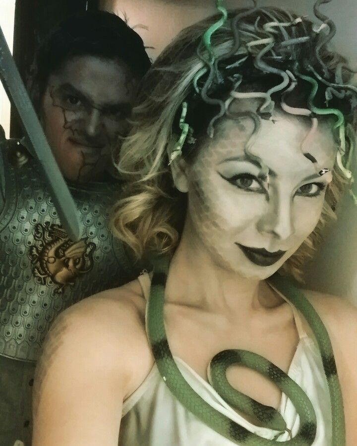 Medusa and stone gladiator couples costume                                                                                                                                                                                 More