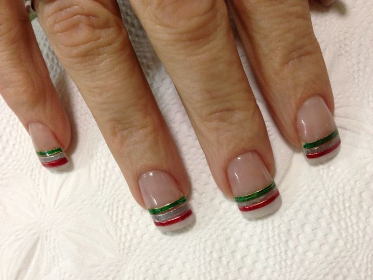 Mexico independence day nails