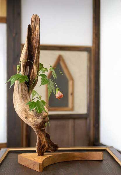#流木の花器 2005-12  #流木 #流木アート #屋久島 #driftwood art #インテリア  #Flowervase