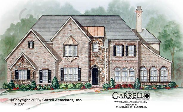 Garrell associates inc west hampton house plan 01209 for English tudor house plans