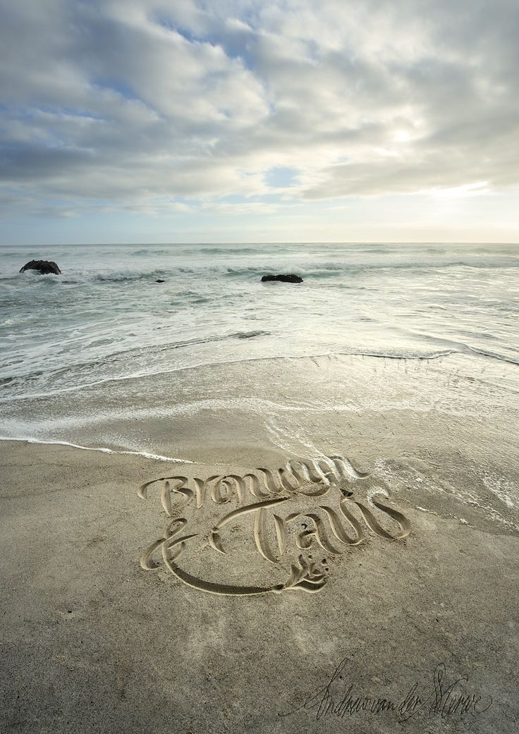 A commission for a wedding present. #beachcalligraphy #beachart #calligraphy #letterart #beachlife #love #beachlove #handcarved #couplesnames #couple #weddinggift #weddinganniversary