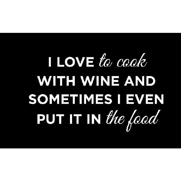 Home Decor - I Love to Cook with Wine Sign #mothersday #giftidea #Ilovetocookwithwine