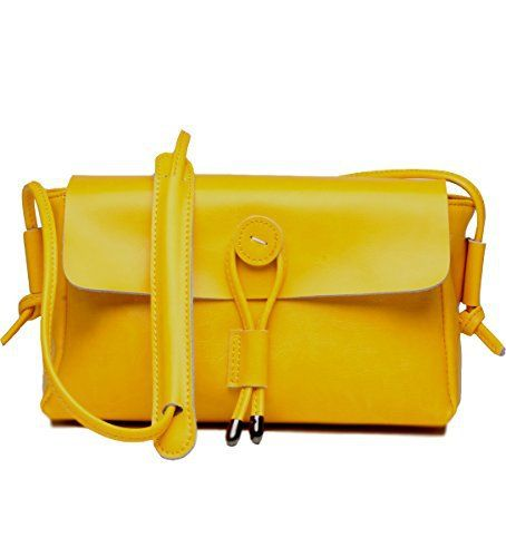 New Trending Make Up Bags: Covelin Womens Fashion Handbag Genuine Leather Envelope Crossbody Shoulder Bag Yellow. Covelin Women's Fashion Handbag Genuine Leather Envelope Crossbody Shoulder Bag Yellow   Special Offer: $38.99      422 Reviews New coming crossbody bag from Covelin, perfect for all seasons!Soft  Durable: adopts second cowhide leather, which has a cozy hand feeling; the lining...