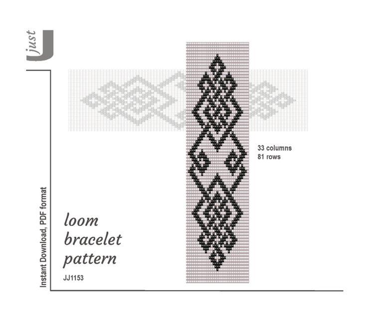Loom bracelet pattern, beaded bracelet, celtic, bead
