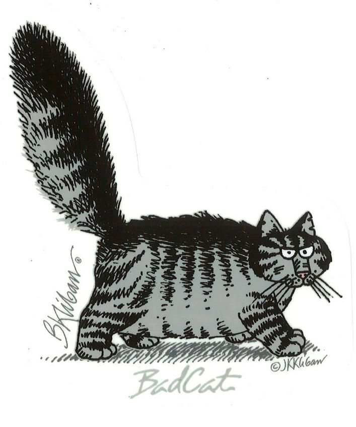 Kliban: Bad cat..one of my favorite cat illustrations from way back....
