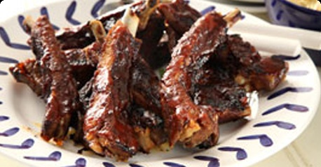 BBQ ribs with a chili-ginger marinade, nom...