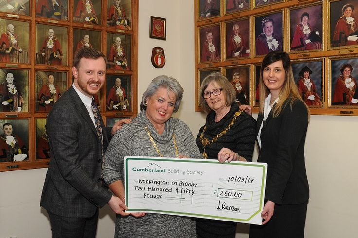 Cumberland Building Society sponsor Workington in Bloom http://www.cumbriacrack.com/wp-content/uploads/2017/03/Mayors-Parlour-001.jpg Workington in Bloom has received support from the Cumberland Building Society with a donation of £250 towards this year's floral displays.    http://www.cumbriacrack.com/2017/03/14/cumberland-building-society-sponsor-workington-bloom/