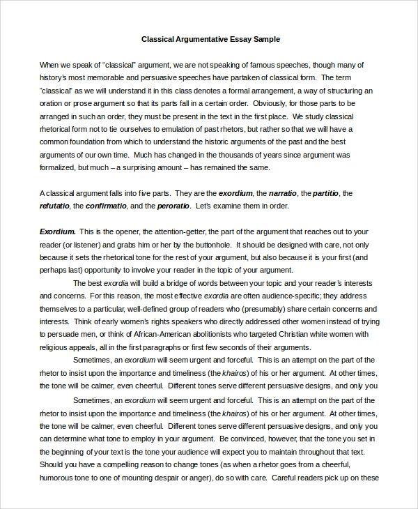 Free 16 Argumentative Writing Samples Templates In Pdf Ms Word Argumentative Essay Argumentative Essay Outline Writing A Persuasive Essay