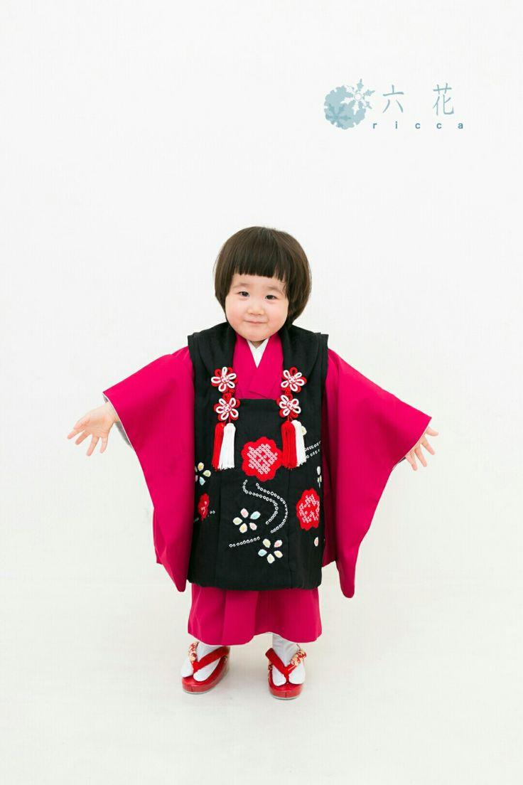七五三 三歳女の子 着物レンタル・着付け・ヘアメイク・撮影プラン