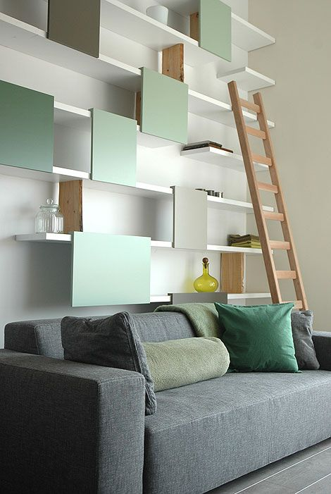 Ontwerp duo.Living Rooms, Floating Shelves, Open Shelves, Interiors, Living Room Wall, High Ceilings, Wall Shelves, Storage Ideas, Design