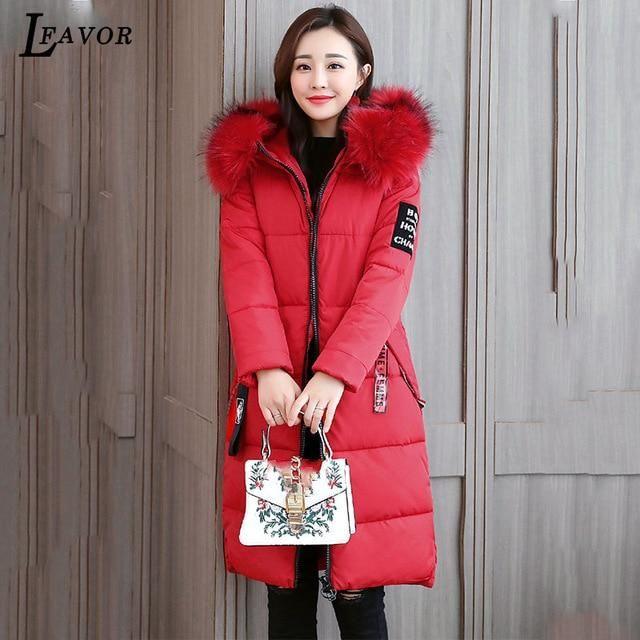 2018 7 Plus Size Winter Coat Women Thick Parka Jackets Loose Long Winter Down Cotton Jacket Hooded Warm Female Jacket Coat 330 r 2