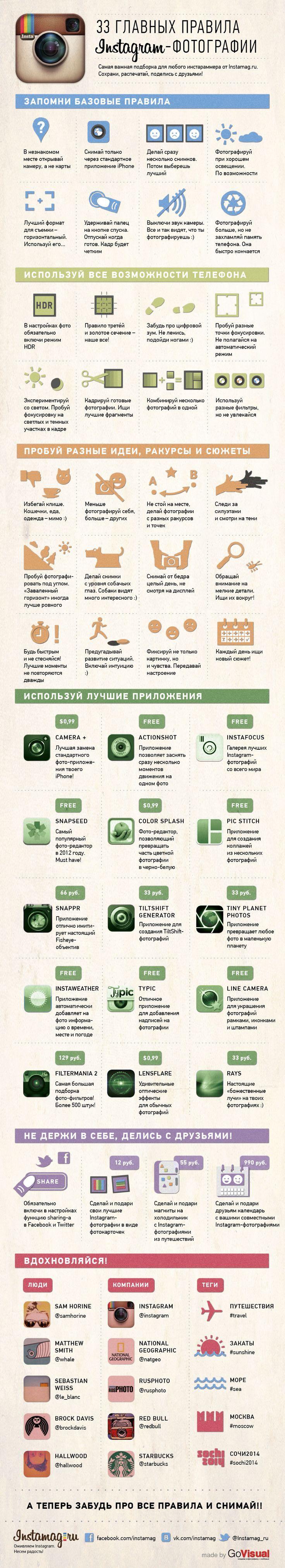 33 правила инста