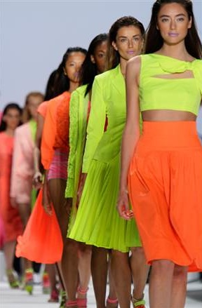 Neon on the runway