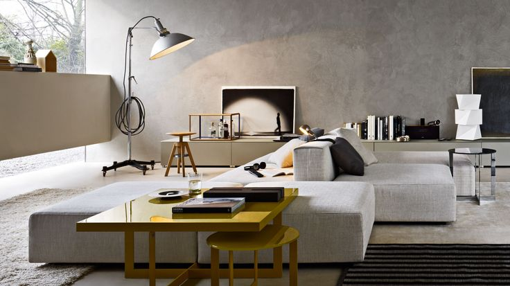 | LIVING ROOM | #Freestyle Sofas by #Molteni&C | gone away are the traditional mind sets to sofa seating to be limited to one view. When we being to see seating arrangements to be more versatile, we open up the flexibility of spaces being used in more ways than one. a #gaileguevara #furniture #favourite