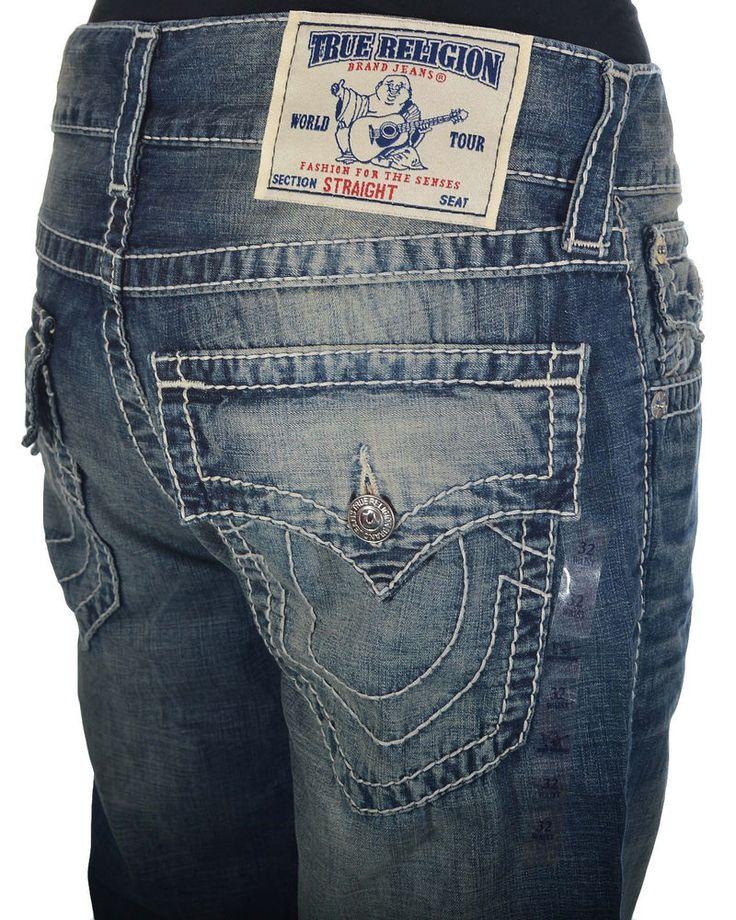 True Religion Mens Jeans Size 34 Straight with Flaps Big T in Kings Island NWT  #TrueReligion #ClassicStraightLeg