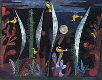 Paesaggio con uccelli gialli  1923