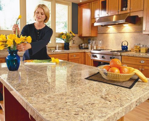 Kitchen Designs, Granite Countertop Cool Picture Beautiful Women Yellow  Flowers Nice Brown Color Kitchen Shelves